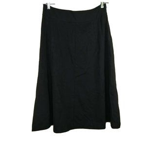 Coldwater Creek A-line Full Skirt Size 12 Black